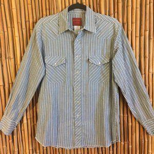 * Rustler Vintage Pearl Snap Button Up Shirt *